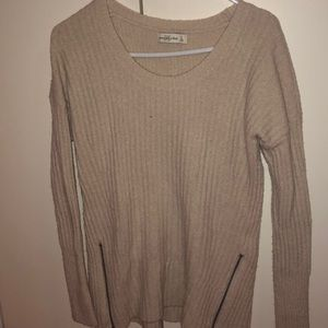 Abercrombie sweater with zipper details